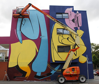 Afbeelding street art Afrikaanderwijk | POW! WOW! Festival Rotterdam 2019