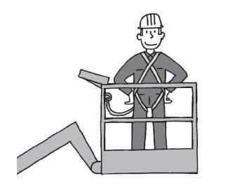 Środki ochrony indywidualnej przy pracy na podestach ruchomych