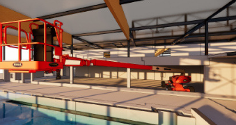 Modele maszyn z floty Riwal w BIM
