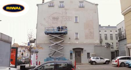 Współpraca Riwal - murale łódź