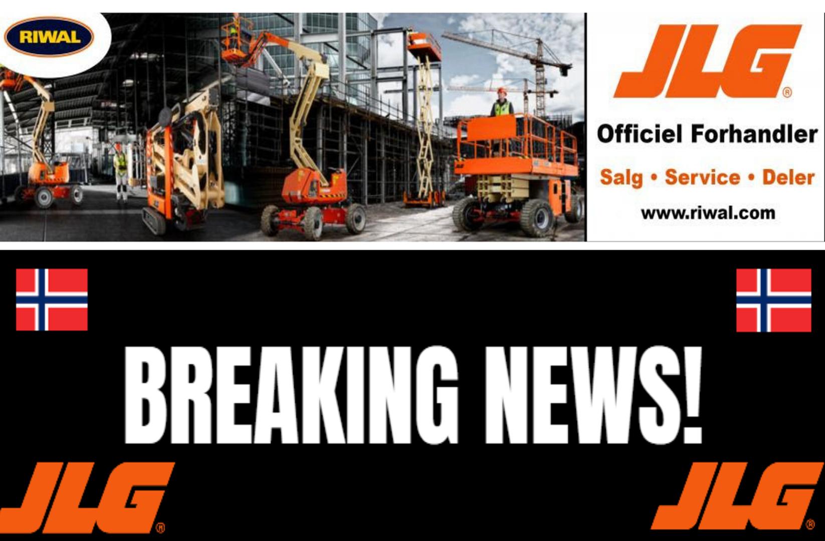 Riwal Norge A/S er officiel forhandler for JLG