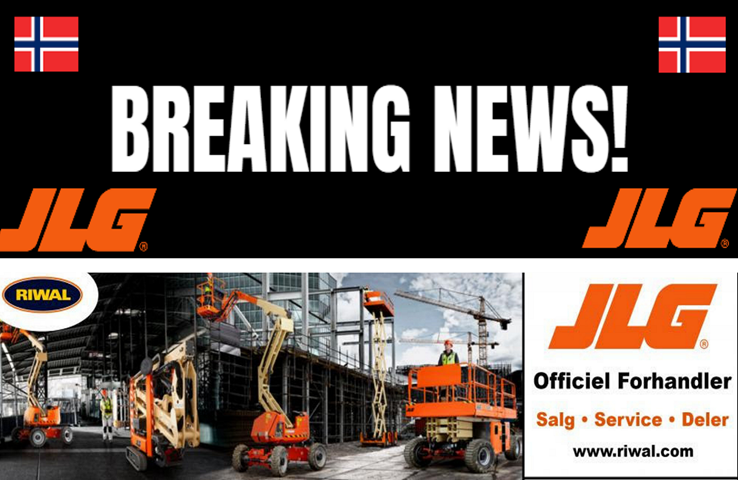 Riwal utnevnt til JLG distributør i Norge!