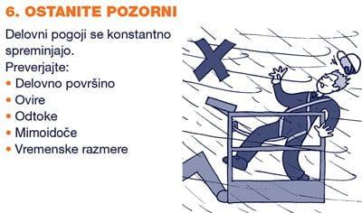 Varno delo na višini izpit za viličarja usposabljanja za delo na višini Riwal Slovenija prodaja najem dvižne ploščadi košare teleskopski viličarji servis rezervni deli