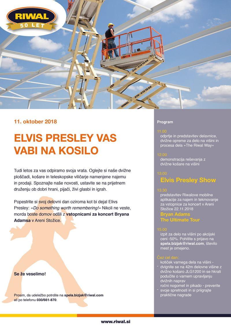 Riwal Slovenija dan odprtih vrat Elvis Presley Bryan Adams