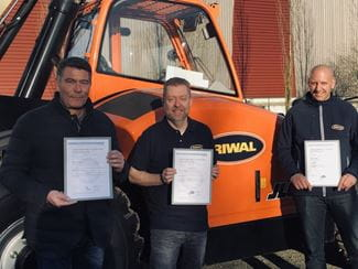 Riwal obtient une triple certification ISO 9001 | ISO 14001 | OHSAS 18001