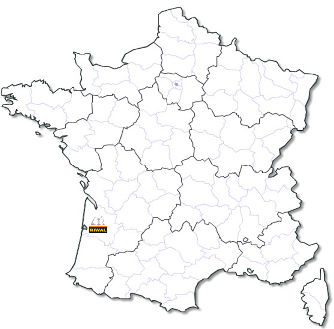 Localisation agence Riwal Bordeaux