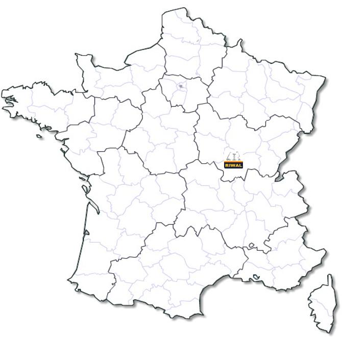 Localisation agence Riwal Bourgogne