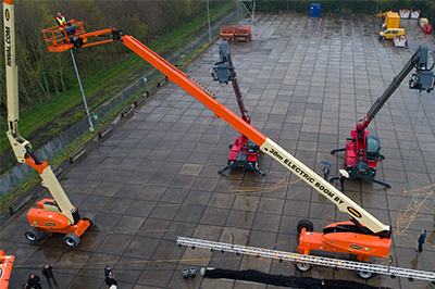 100% electric boom lift | Boom lift | Aerial work platform | Riwal |