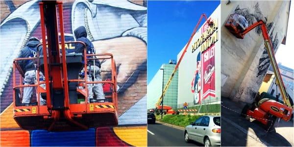 Riwal najem opreme ljubljana split zagreb prodaja dvižne košare ploščadi teleskopski viličarji usposabljanja delo na višini industirja avtokošare JLG rezervni deli Genie Manitou servis pleskanje slikopleskarstvo