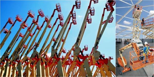 Riwal najem opreme ljubljana split zagreb prodaja dvižne košare ploščadi teleskopski viličarji usposabljanja delo na višini industirja avtokošare JLG rezervni deli Genie Manitou servis