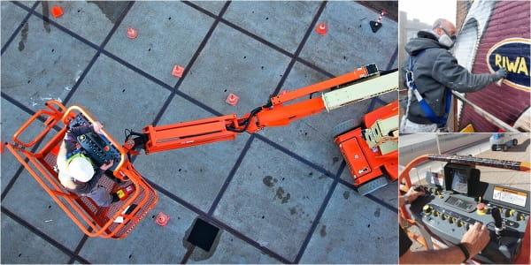 Riwal najem opreme ljubljana split zagreb prodaja dvižne košare ploščadi teleskopski viličarji usposabljanja delo na višini industirja avtokošare JLG rezervni deli Genie Manitou servis varnost